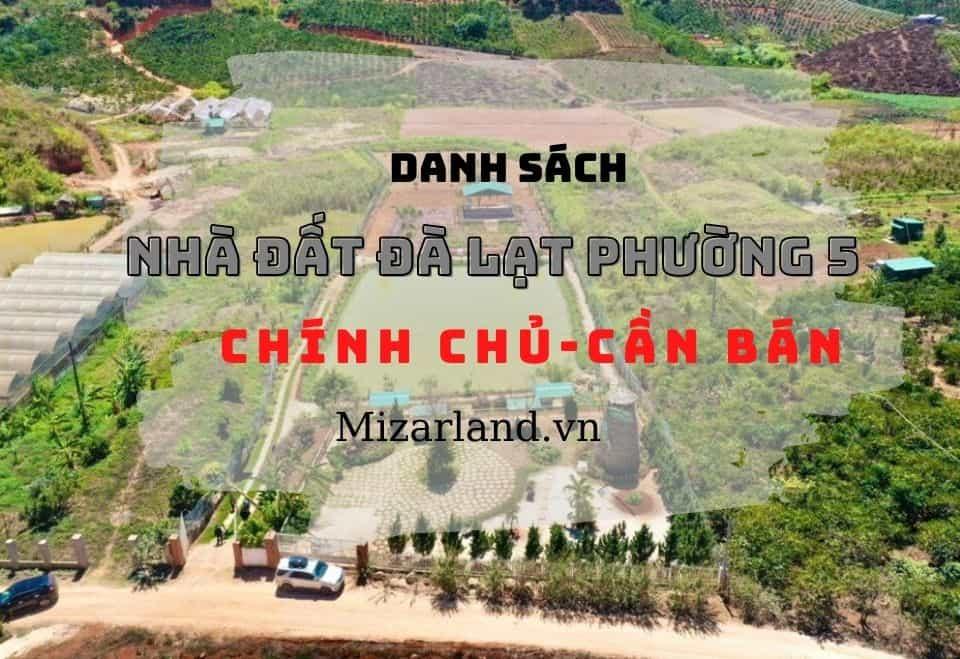 Nhà đất Đà Lạt phường 5