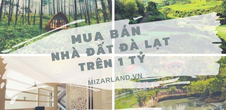Mua bán nhà đất Đà lạt trên 1 tỷ