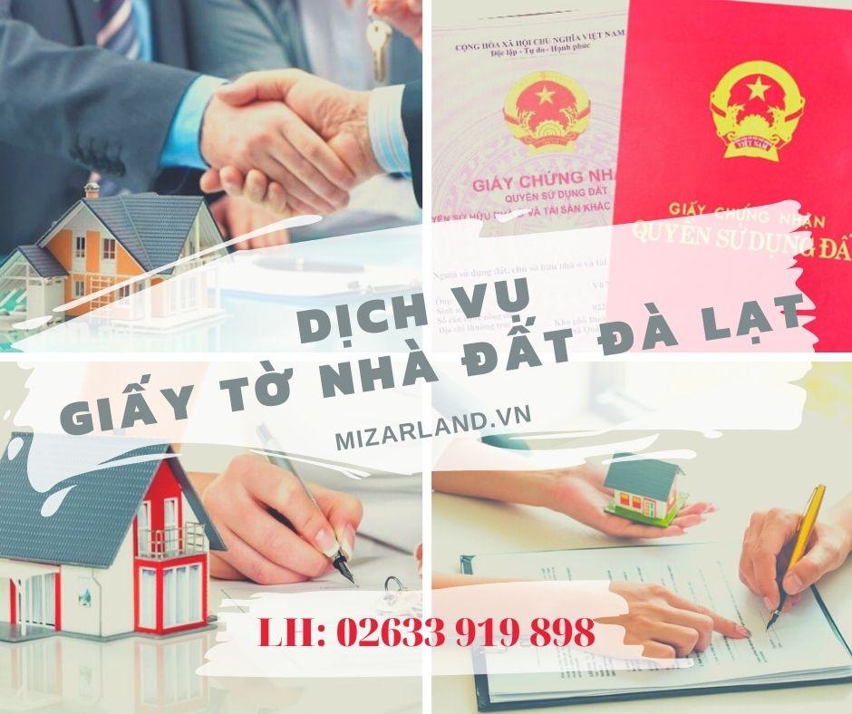Dịch vụ giấy tờ nhá đất Đà Lạt